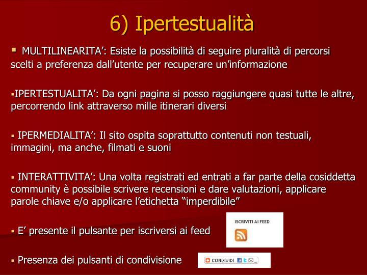 6) Ipertestualità