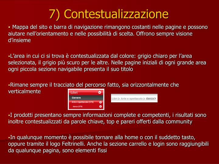 7) Contestualizzazione