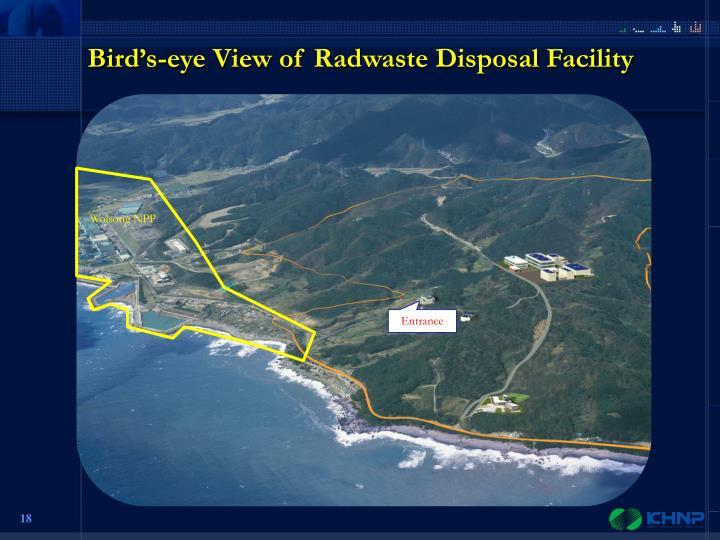 Bird's-eye View of Radwaste Disposal Facility