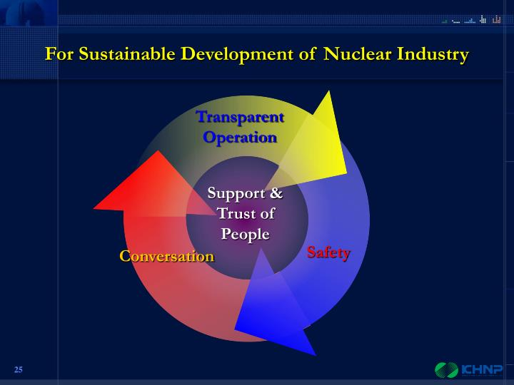 For Sustainable Development of Nuclear Industry