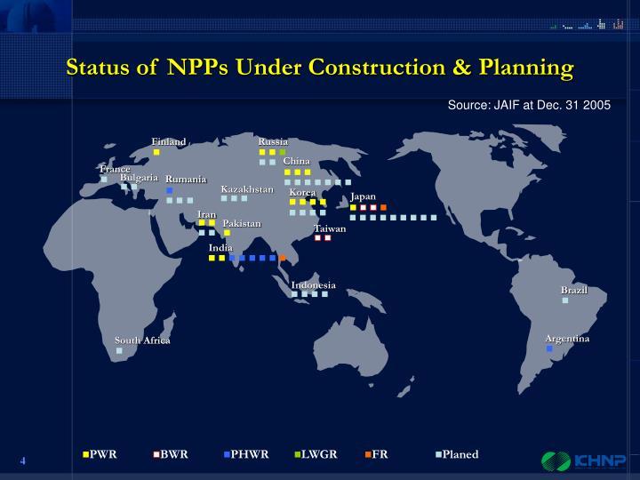 Status of NPPs Under Construction & Planning