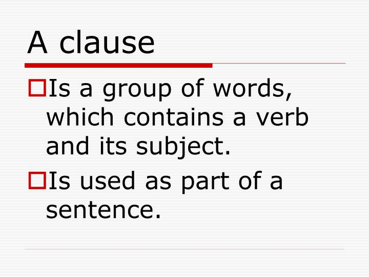 A clause