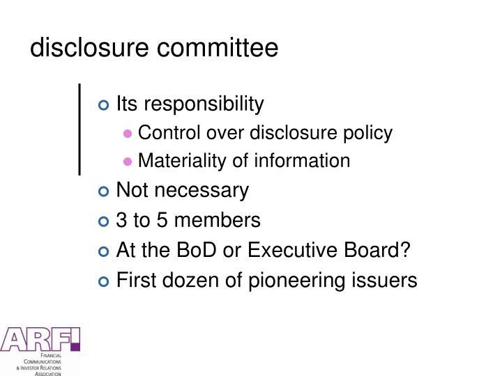 disclosure committee