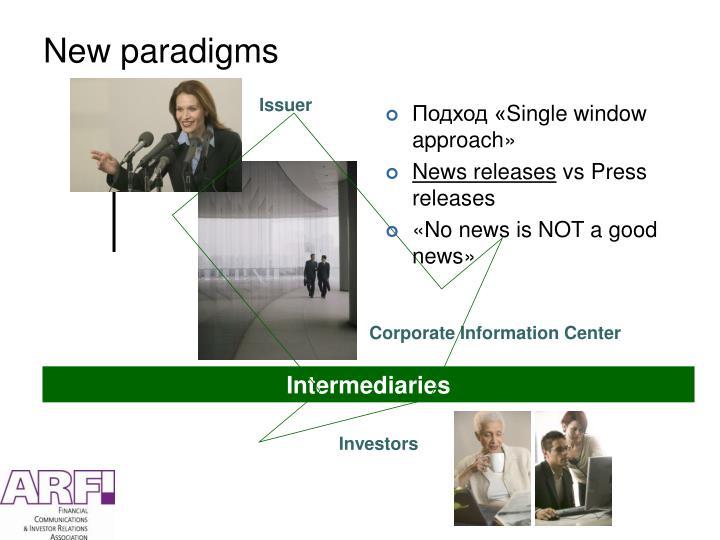 New paradigms