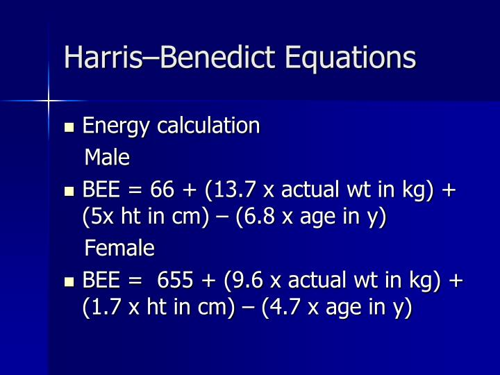Harris–Benedict Equations