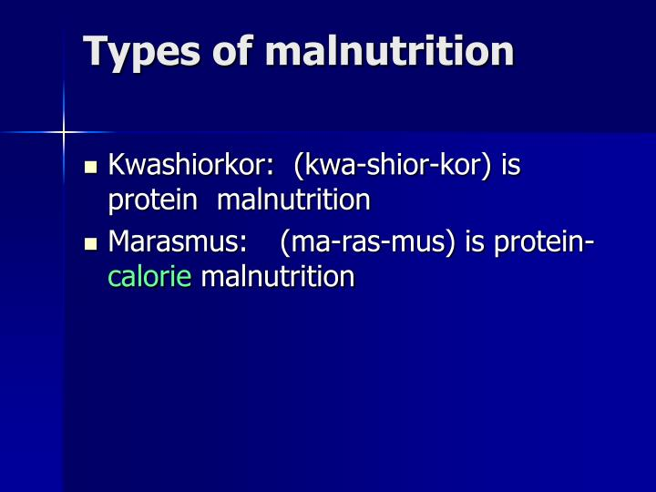 Types of malnutrition