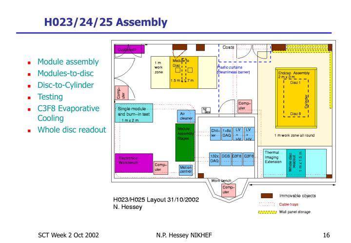 H023/24/25 Assembly