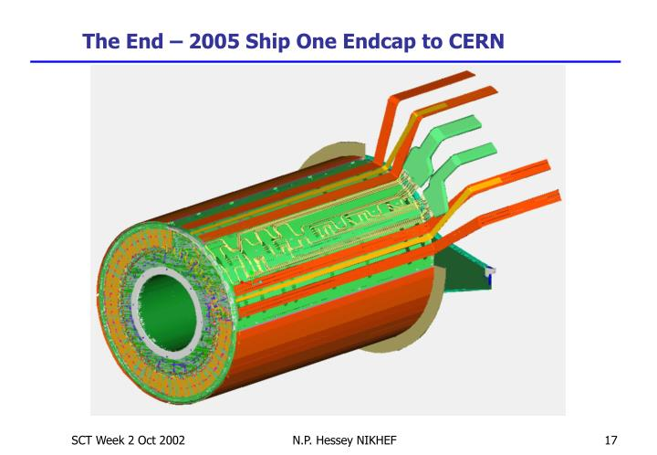 The End – 2005 Ship One Endcap to CERN