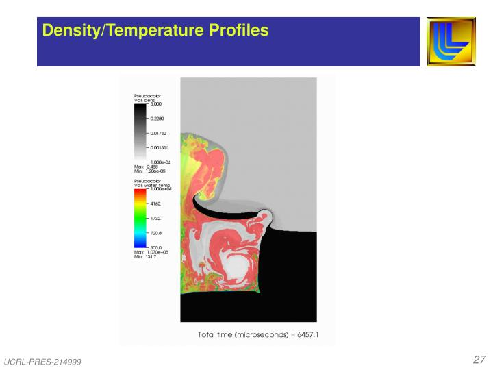 Density/Temperature Profiles