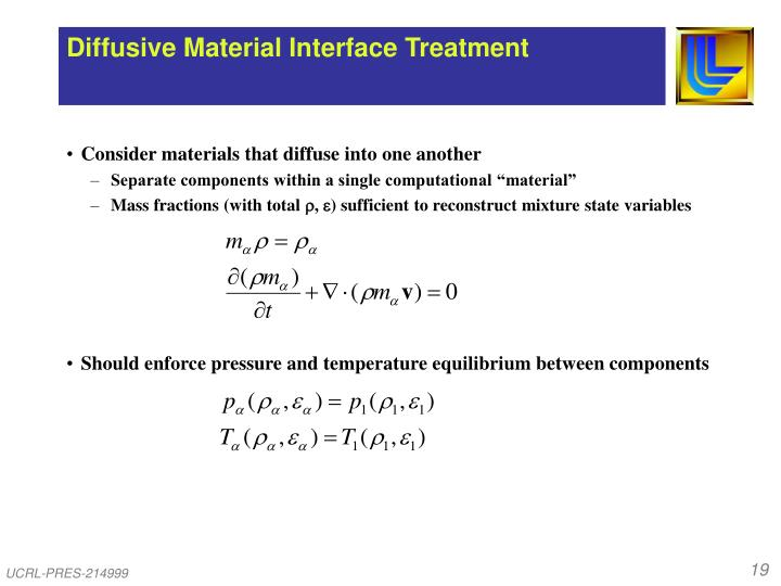 Diffusive Material Interface Treatment