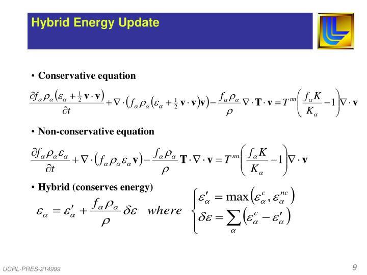 Hybrid Energy Update