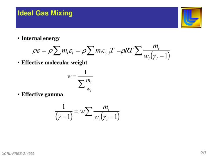 Ideal Gas Mixing