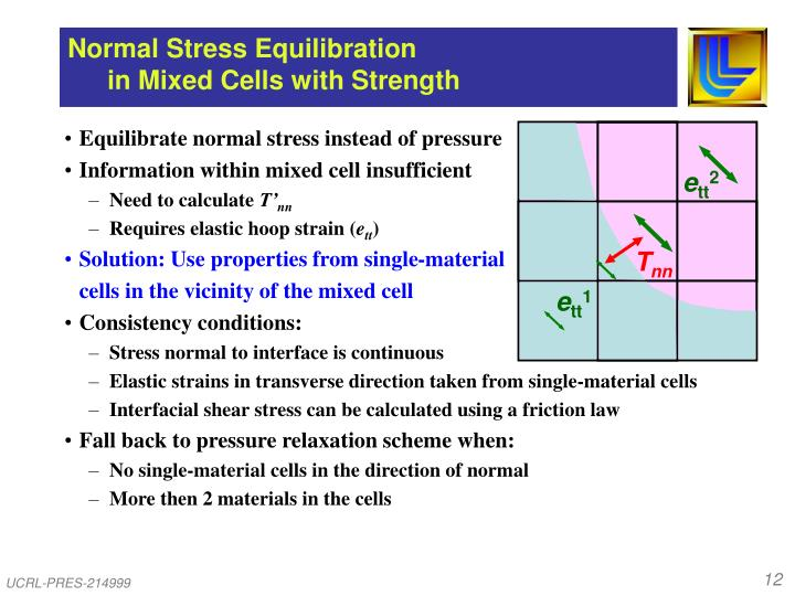 Normal Stress Equilibration