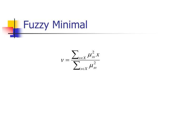 Fuzzy Minimal