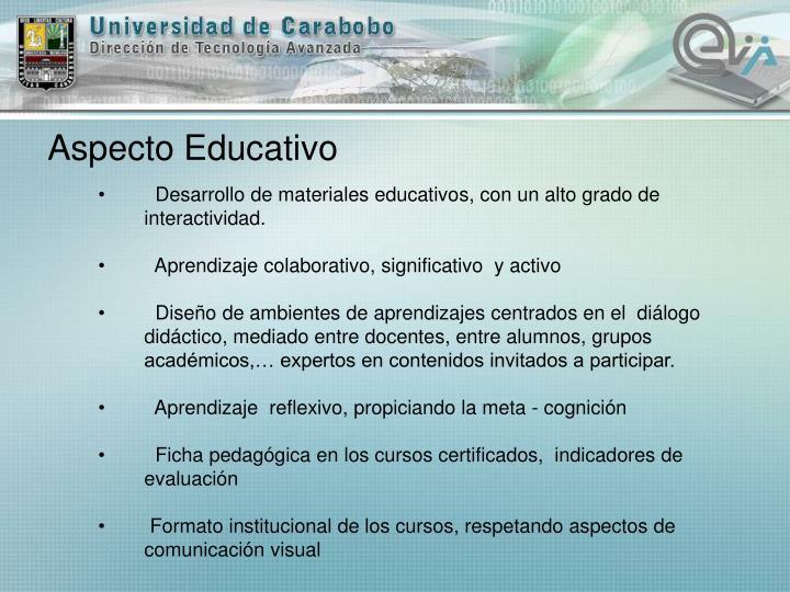 Aspecto Educativo