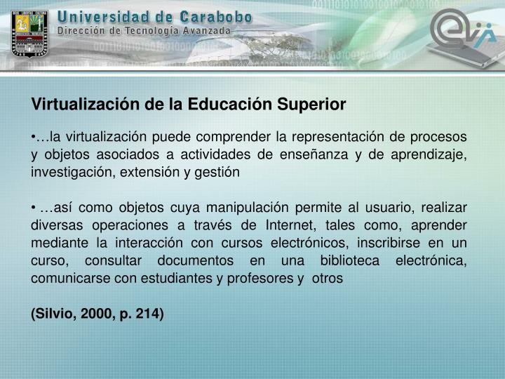 Virtualización de la Educación Superior