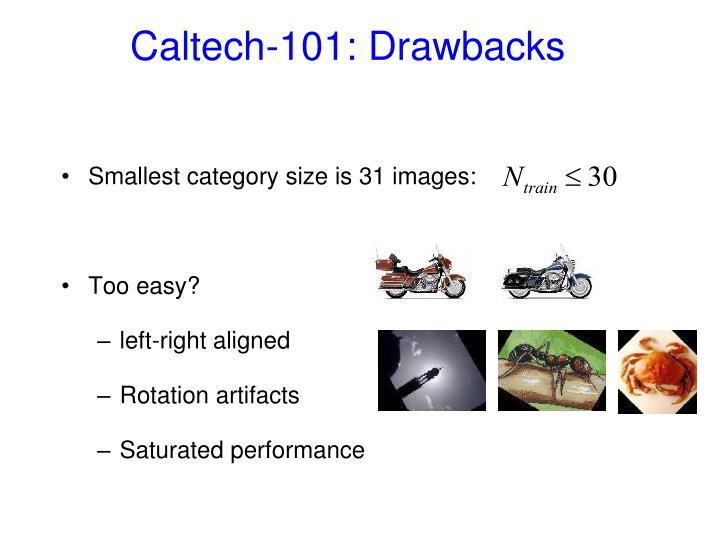 Caltech-101: Drawbacks