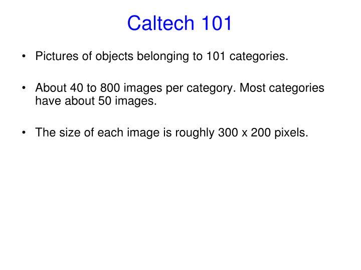 Caltech 101