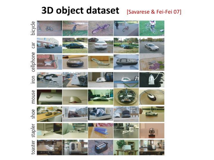 3D object dataset