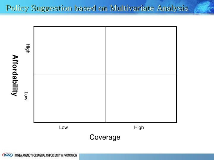 Policy Suggestion based on Multivariate Analysis