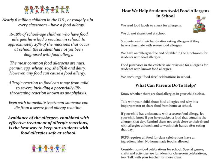 How We Help Students Avoid Food Allergens in School