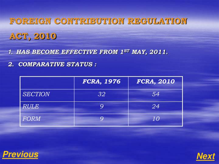 1 has become effective from 1 st may 2011 2 comparative status