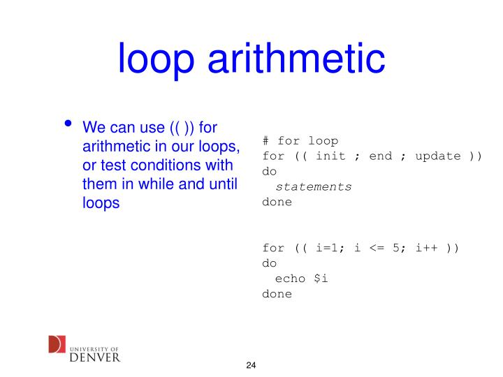 loop arithmetic