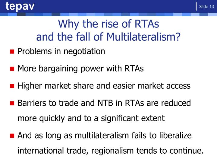Why the rise of RTAs