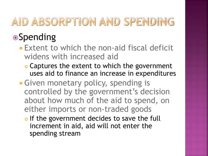 Aid absorption and spending