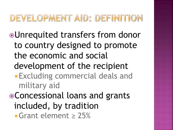 Development aid definition