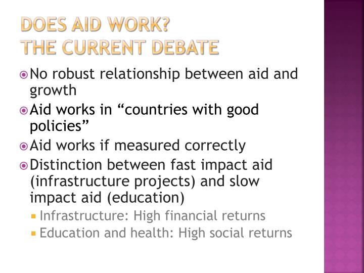 Does aid work