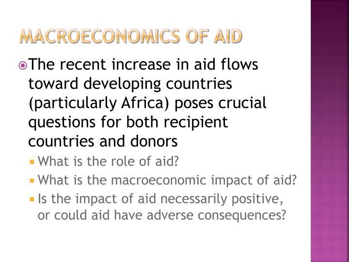 Macroeconomics of Aid