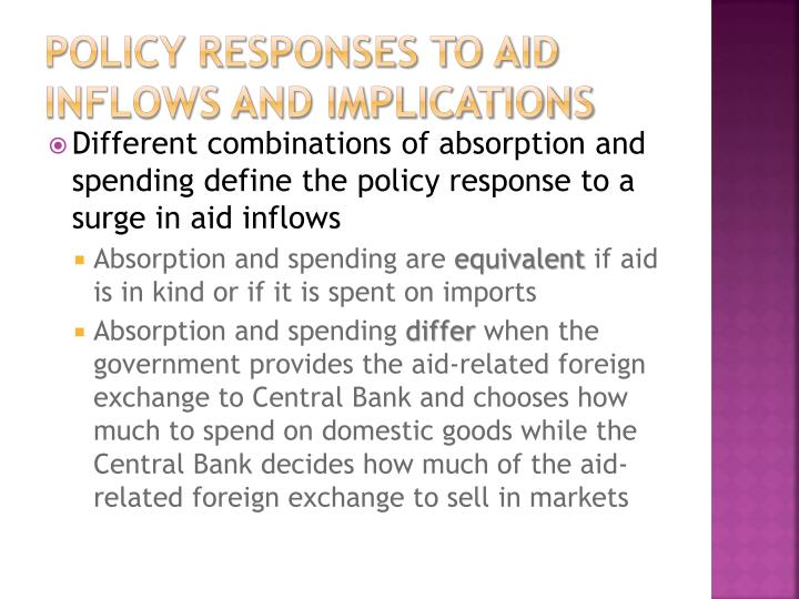 Policy responses to aid inflows and implications