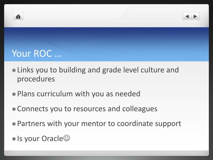 Your ROC …