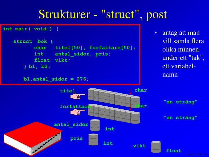 """Strukturer - """"struct"""", post"""