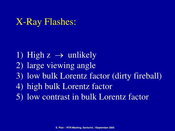 X-Ray Flashes: