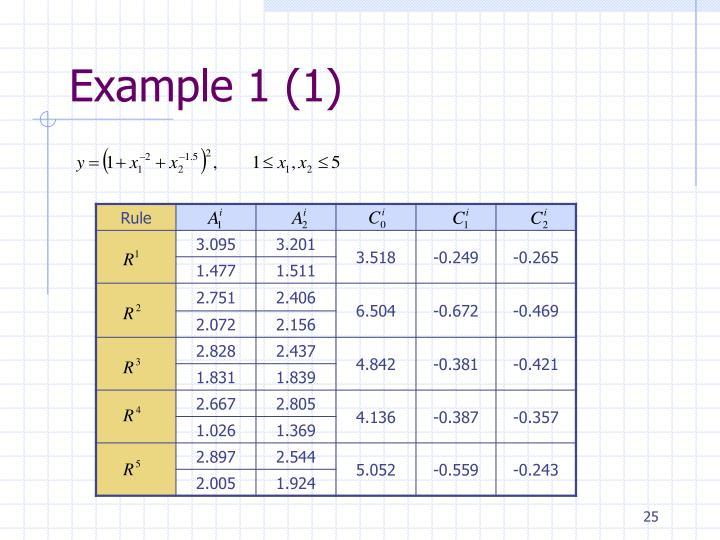 Example 1 (1)
