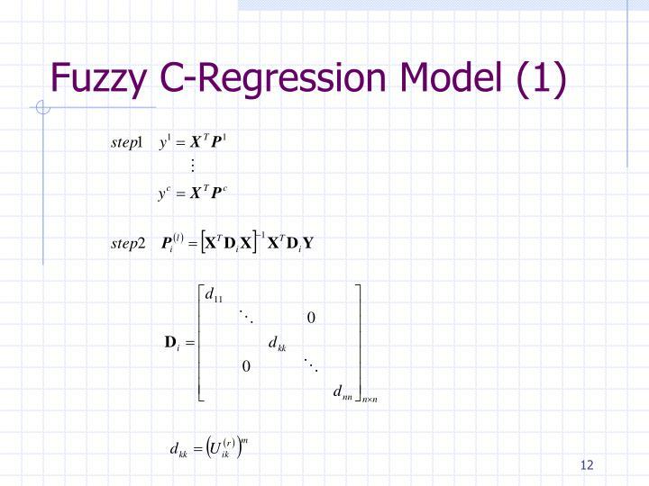 Fuzzy C-Regression Model (1)