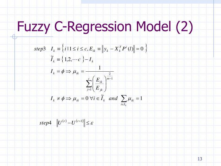 Fuzzy C-Regression Model (2)