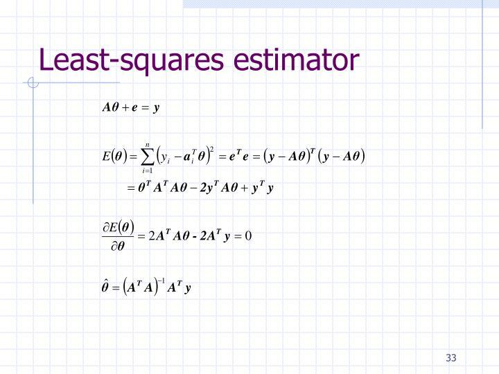 Least-squares estimator