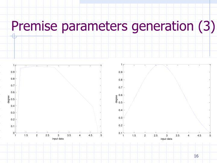 Premise parameters generation (3)