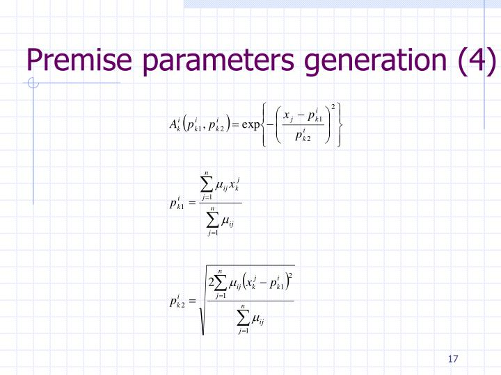 Premise parameters generation (4)
