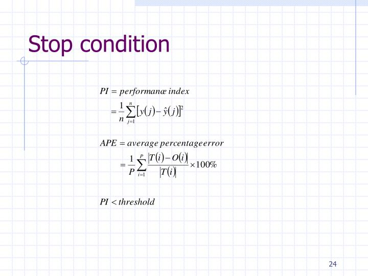 Stop condition