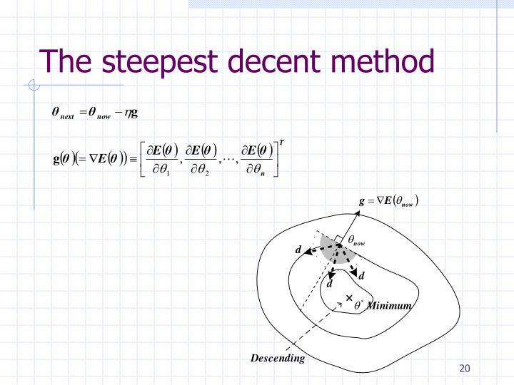 The steepest decent method