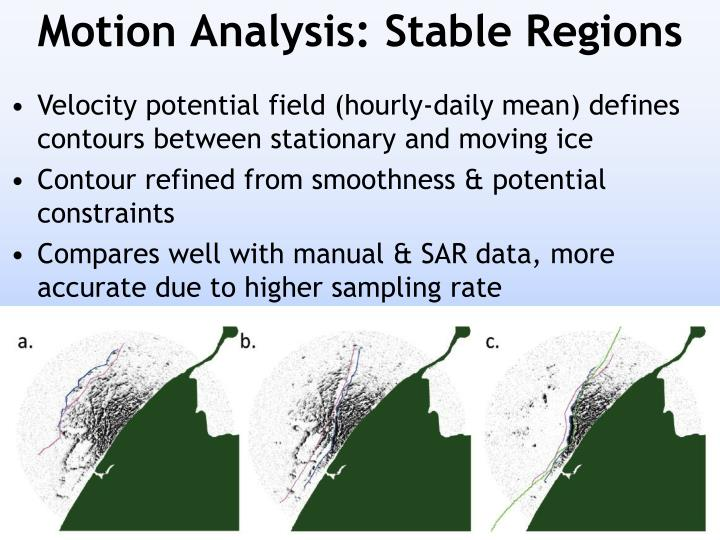 Motion Analysis: Stable Regions