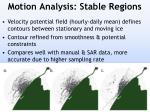 motion analysis stable regions