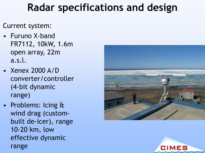 Radar specifications and design