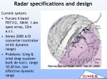 radar specifications and design1