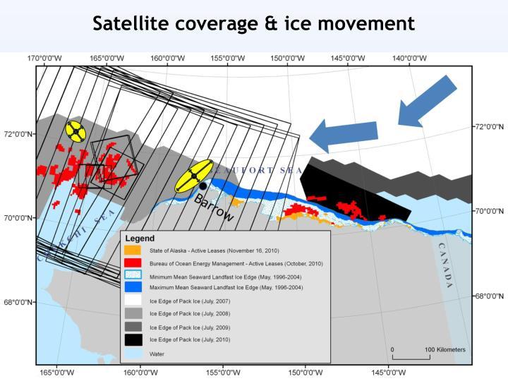 Satellite coverage & ice movement