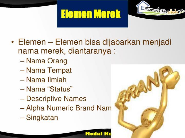 Elemen Merek